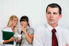 Bullying at work in the office Royalty Free Stock Image
