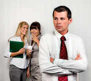 Bullying in the workplace office. Bullying in the workplace an office Royalty Free Stock Image