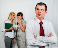 Bullying in the workplace office royalty free stock photo