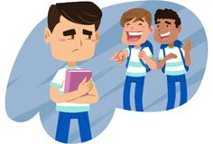 Bullying at your friends` school Royalty Free Stock Photo