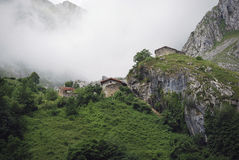 Bulnes with fog Royalty Free Stock Images