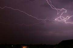 bulten clouds blixtskyen Fotografering för Bildbyråer