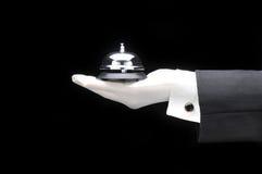 Bulter com atendimento Bell Imagem de Stock Royalty Free