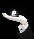 Bulter con la chiamata Bell Immagine Stock
