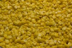 Bulto de textura amarilla hervida de los granos del maíz foto de archivo