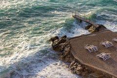 Bulwar Dobra woda, Montenegro Obraz Stock