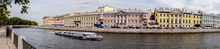 Bulwar Fontanka rzeka w St Petersburg Zdjęcia Royalty Free