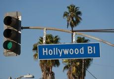 bulwar Hollywood obraz stock