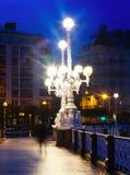 Bulwar losu angeles Concha w ranku przy San Sebastian Zdjęcie Royalty Free