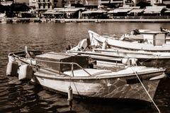 Bulwar nabrzeżny elita turystyczny grodzki Agios Nikolaos fotografia royalty free