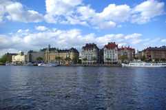 bulwar s Stockholm Obraz Royalty Free