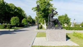 Bulwar Samara, Rosja Samara Rosja, Czerwiec - 2017 - Obrazy Royalty Free
