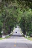 Bulwar, Shandong wiejskie drogi w Chiny Obrazy Royalty Free