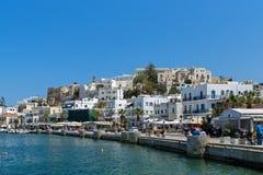 Bulwar w Naxos wyspie, Cyclades Fotografia Stock