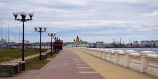 Bulwar w Nizhny Novgorod Obrazy Royalty Free
