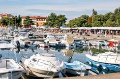 Bulwar w starej części towne Porec, Chorwacja Fotografia Stock