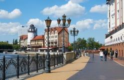 Bulwar wioska rybacka Kaliningrad Zdjęcie Royalty Free