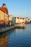 Bulwar wioska rybacka Kaliningrad Zdjęcia Royalty Free