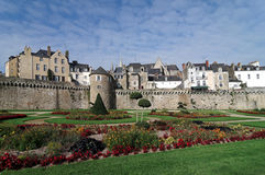 Bulwark and garden of  Vannes city Royalty Free Stock Photography