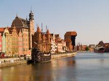 bulwaru Gdansk motlawa rzeka Fotografia Royalty Free