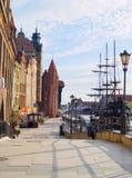 bulwaru Gdansk motlawa rzeka Obraz Stock