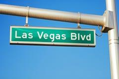 bulwaru las drogowego znaka pasek Vegas Obraz Royalty Free