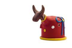 Bumba meu boi. Clay figure from the Bumba meu boi-  Brazilian folk theatrical tradition Royalty Free Stock Photo