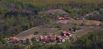 Aerial view of the city Bumbesti-Jiu.