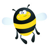 Bumble Bee. Fun illustration of a happy cartoon bee on a white background Stock Photography
