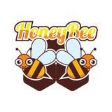 Bumble bee / honey bee logo, vector illustration. Bumble bee / honey bee logo for your business, vector illustration royalty free illustration