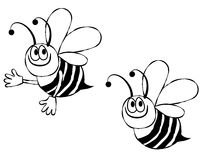 Free Bumble Bee Line Art Stock Photography - 7266712