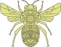 Bumble Bee Mandala Royalty Free Stock Photos