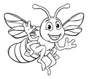 Bumble Honey Bee Cartoon Character royalty free illustration