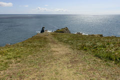 Bumble rock point at Lizard, Cornwall Stock Photos