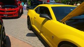 Bumblebee το αυτοκίνητο παρουσιάζει Στοκ Εικόνες