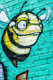 Bumblebee Graffiti Wall Royalty Free Stock Images
