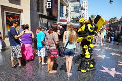 BUMBLEBEE in hollywood walk Royalty Free Stock Photography