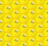 Bumblebee Miodowej koloni Bezszwowy Deseniowy tło Zdjęcia Stock