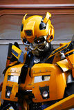 Bumblebee robot costume performs Stock Photos