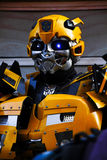 Bumblebee robot costume performs Stock Photography