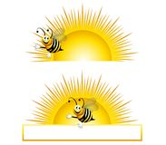 Bumblebee Sunrise Stock Illustration