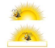 bumblebee wschód słońca ilustracji