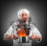 Bumbling chef Stock Image