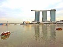 Bumboats w Marina zatoce, Singapur Zdjęcia Stock