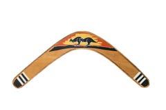 Bumerang som isoleras på vit Royaltyfri Foto