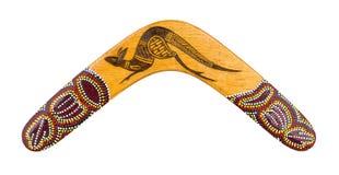 Bumerang som isoleras på vit med den snabba banan Royaltyfri Bild