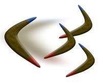 Bumerangs stock de ilustración