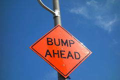 Bump Ahead Royalty Free Stock Photo