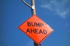 Bump Ahead royalty free stock photo