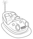 Bump car coloring page Stock Photos